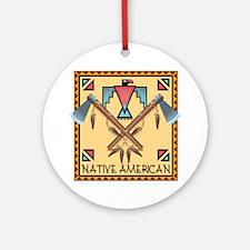 Native American Tomahawks Ornament (Round)