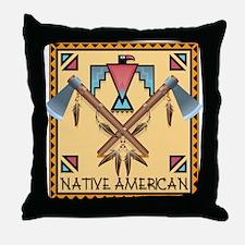 Native American Tomahawks Throw Pillow
