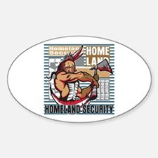 Indian Homeland Security Sticker (Oval)