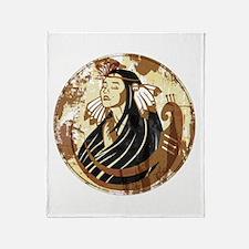 Indian Woman Throw Blanket