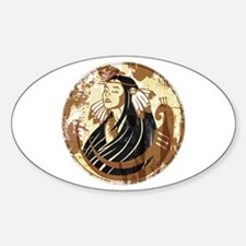 Indian Woman Sticker (Oval)