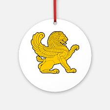 Persian Lion Ornament (Round)