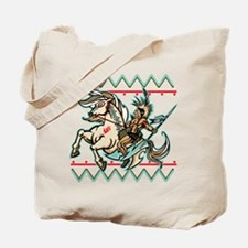 Indian Warrior on Horse Tote Bag