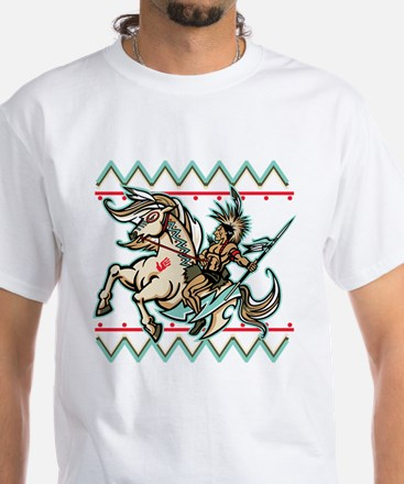 Indian Warrior on Horse Shirt