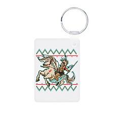 Indian Warrior on Horse Keychains