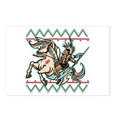 Indian Warrior on Horse Postcards (Package of 8)