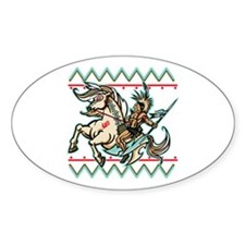 Indian Warrior on Horse Decal