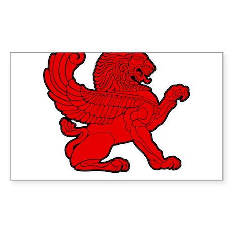 Persian Lion Sticker (Rectangle)