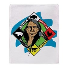Native American Medicine Wheel Throw Blanket