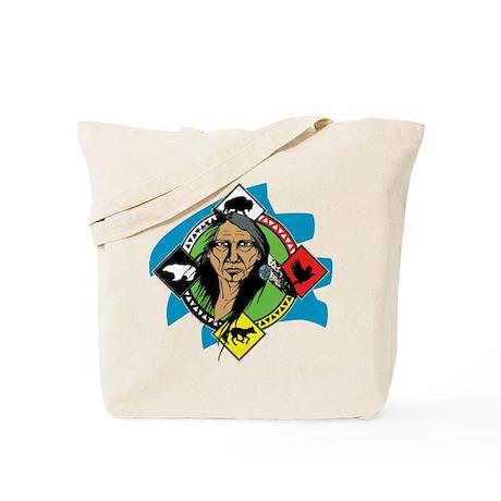 Native American Medicine Wheel Tote Bag