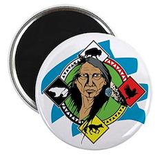 Native American Medicine Wheel Magnet