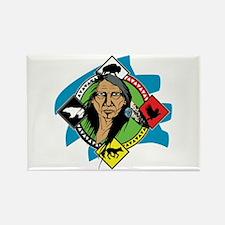 Native American Medicine Wheel Rectangle Magnet