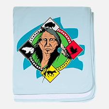 Native American Medicine Wheel baby blanket