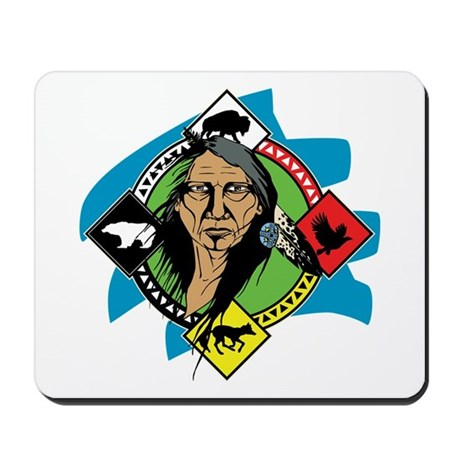 Native American Medicine Wheel Mousepad