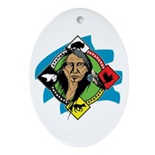 Native American Medicine Wheel Ornament (Oval)