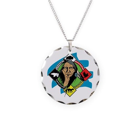 Native American Medicine Whe Necklace Circle Charm