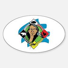 Native American Medicine Wheel Sticker (Oval)