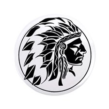 Indian Chief Head Button