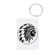 Indian Chief Head Keychains