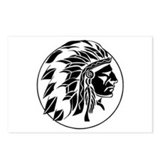 Indian Chief Head Postcards (Package of 8)