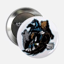 """Native American Indian and Wildlife 2.25"""" Button"""