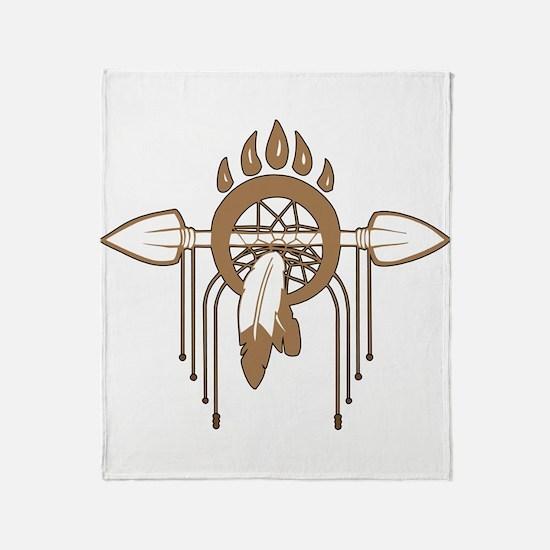Brown Dreamcatcher Throw Blanket