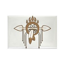 Brown Dreamcatcher Rectangle Magnet