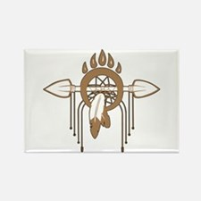 Brown Dreamcatcher Rectangle Magnet