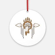 Brown Dreamcatcher Ornament (Round)