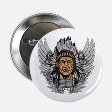 """Indian Chief Wings 2.25"""" Button"""