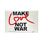 make love not war Rectangle Magnet (100 pack)