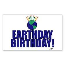 earthday_Birthday Sticker (Rectangular)