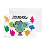 Have you been a Planetpal, today? Greeting Cards (
