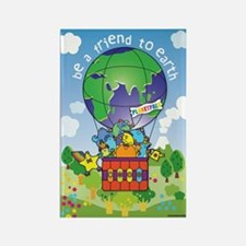 Cute Earth day Rectangle Magnet