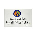 War Peace symbol Rectangle Magnet (100 pack)
