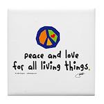 War Peace symbol Tile Coaster