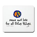 War Peace symbol Mousepad