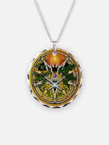 Litha/Summer Solstice Pentacl Necklace