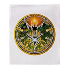 Litha/Summer Solstice Pentacl Throw Blanket