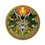 Litha/Summer Solstice Pentacl Ornament (Round)