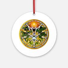 Litha/Summer Solstice Pentacl Ornament (Round)