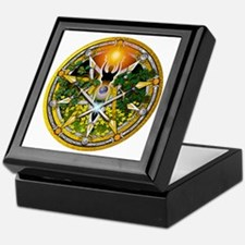 Litha/Summer Solstice Pentacl Keepsake Box
