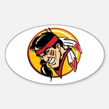 Angry Indian Sticker (Oval)