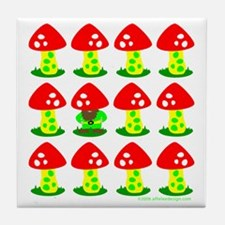 One of These Toadstools! Tile Coaster
