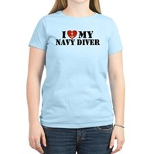 I Love My Navy Diver T-Shirt