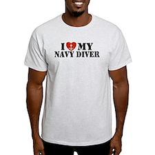 I Love My Navy Diver T-Shirt