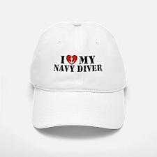 I Love My Navy Diver Baseball Baseball Cap