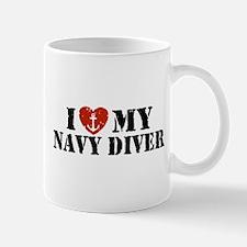 I Love My Navy Diver Mug