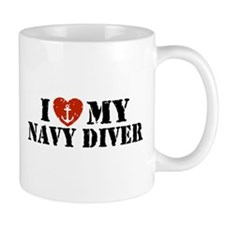 I Love My Navy Diver Mug