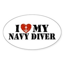 I Love My Navy Diver Decal